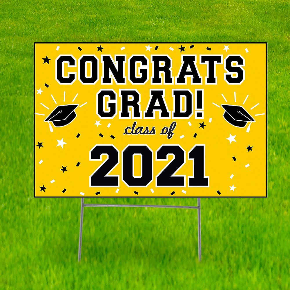 Yellow Graduation Yard Sign Image #1