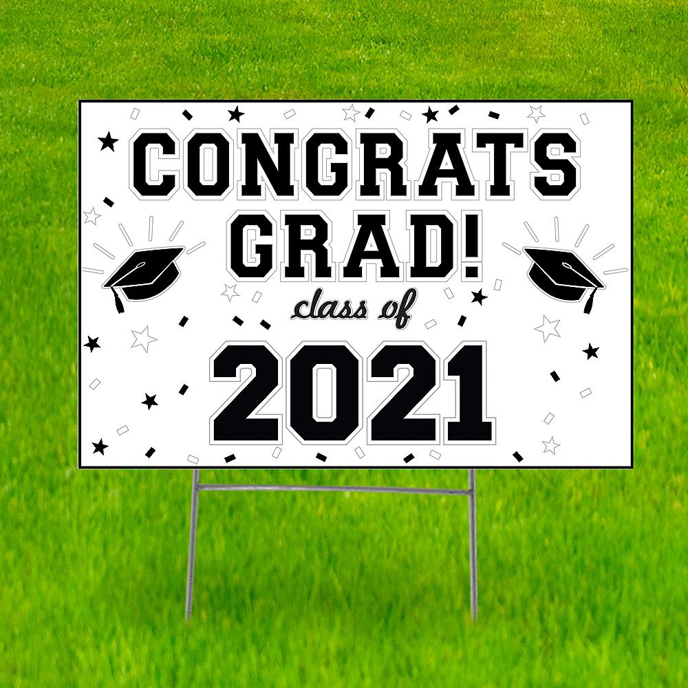 White Graduation Yard Sign Image #1