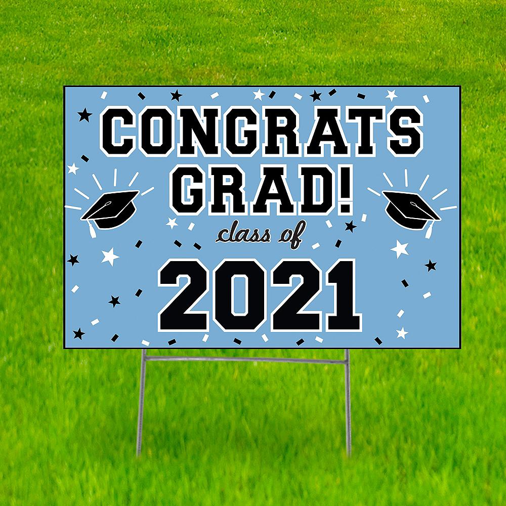 Pastel Blue Graduation Yard Sign Image #1