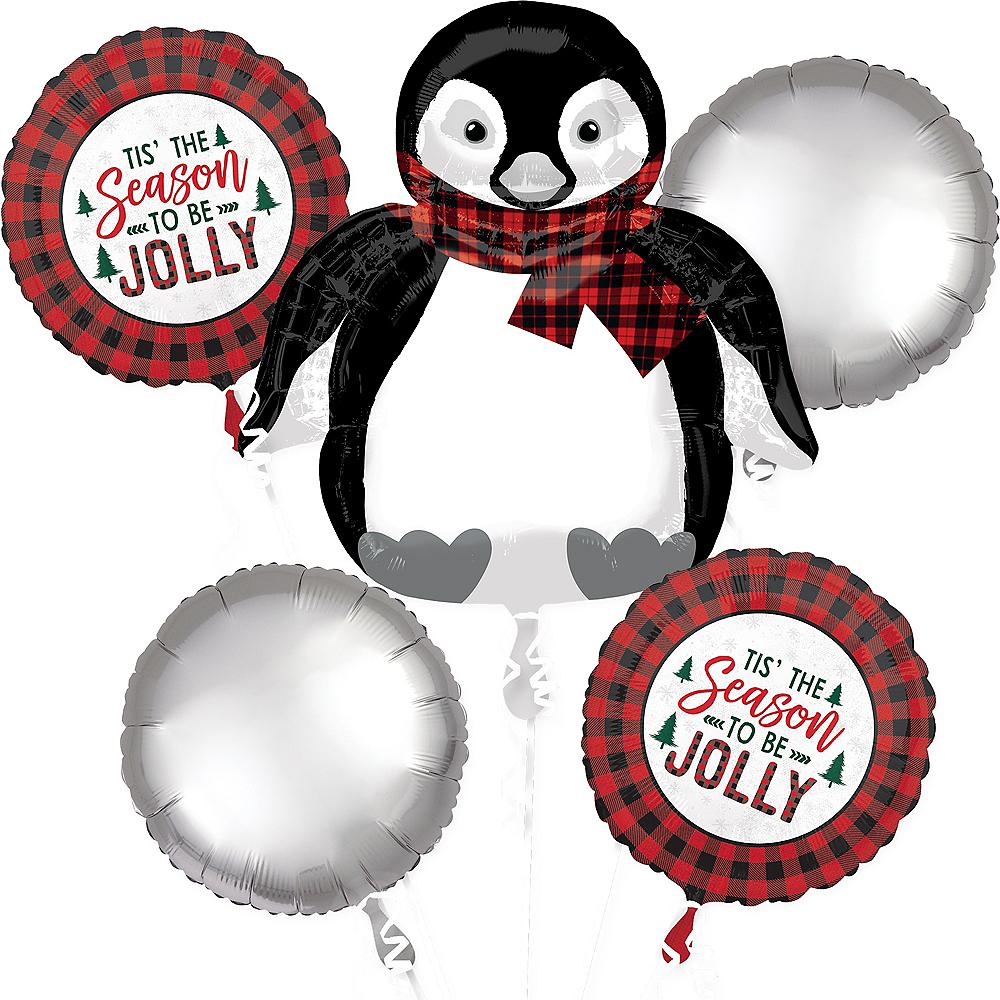 Christmas Penguin Balloon Bouquet 5pc Image #1