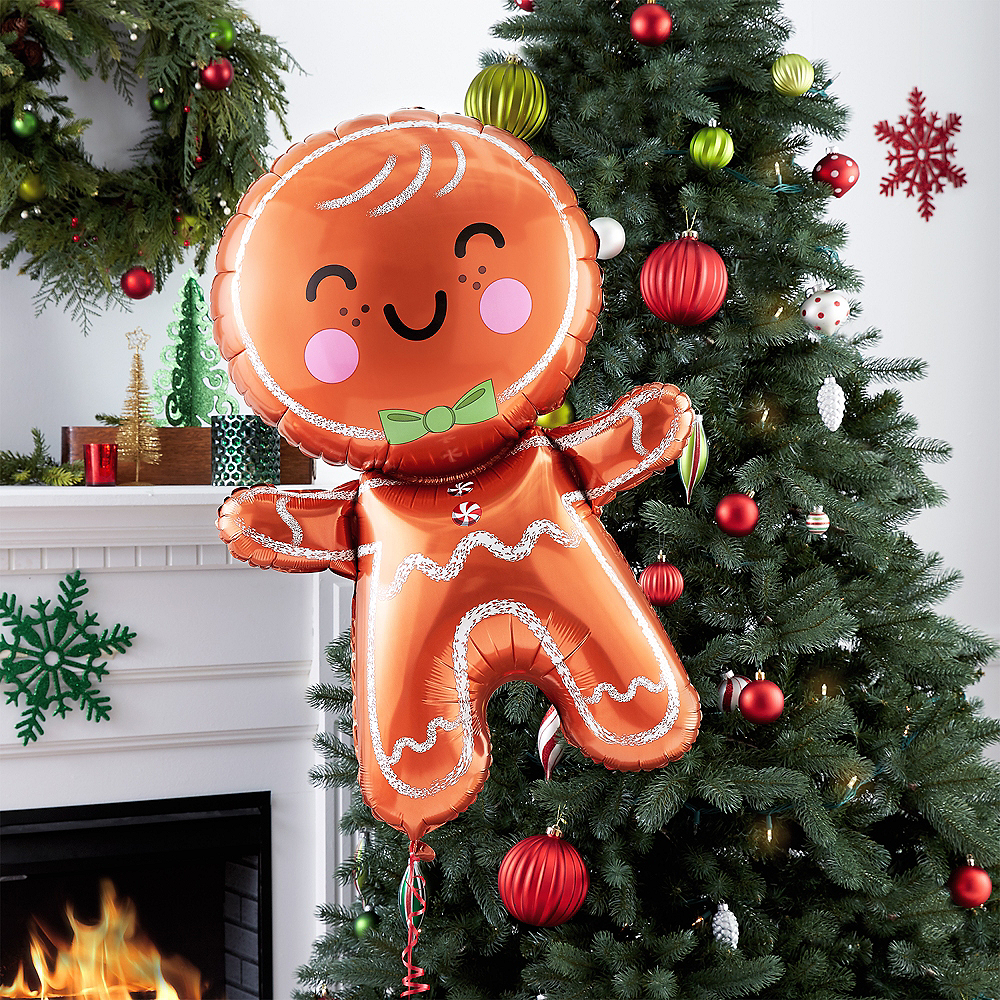 Giant Gingerbread Man Balloon, 22in Image #2