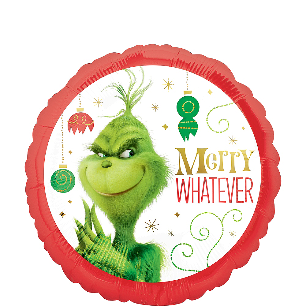 Grinch Merry Whatever Balloon Image #1