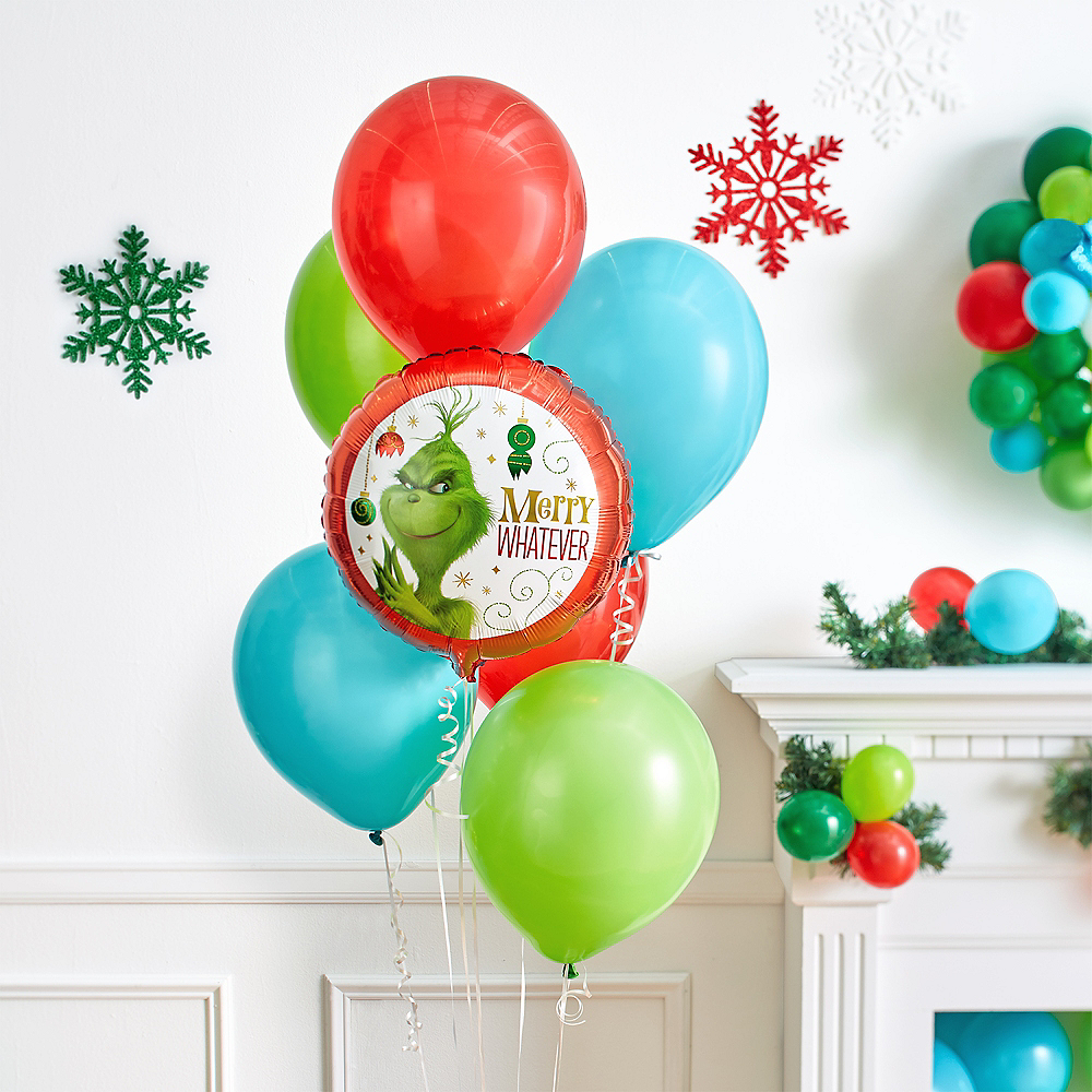 Grinch Merry Whatever Balloon Image #2
