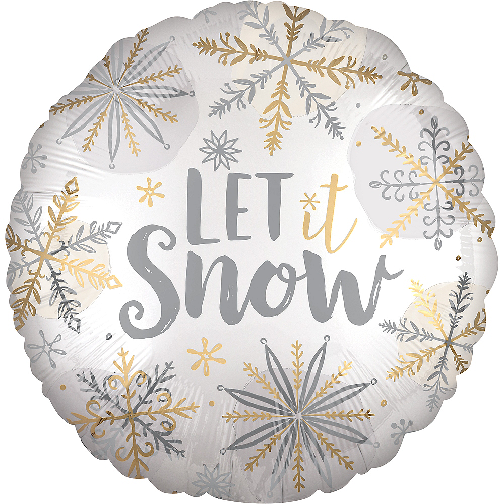 Let It Snow Balloon, 18in Image #1