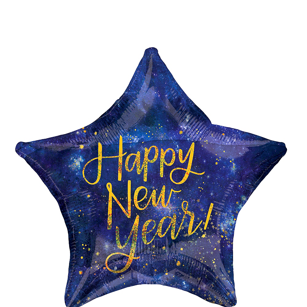 Midnight Happy New Year Star Balloon, 19in Image #1