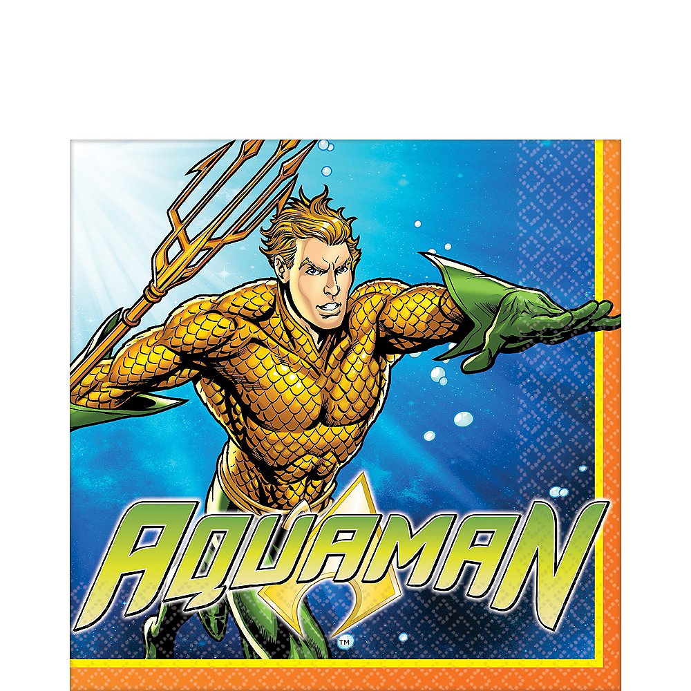 Nav Item for Aquaman Lunch Napkins 16ct Image #1