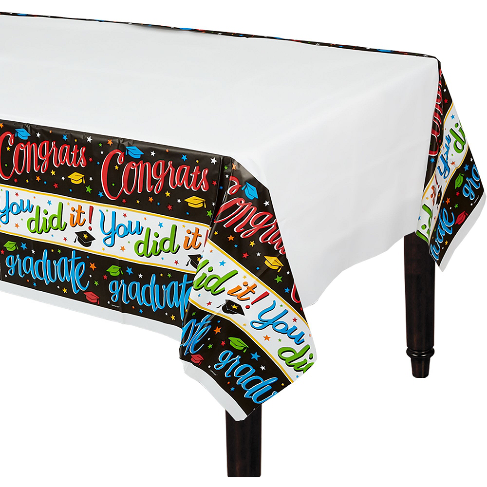 Deluxe Congrats Grad Colorful Graduation Party Kit for 36 Guests Image #3