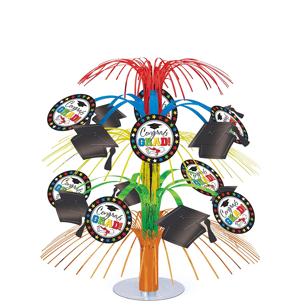 Deluxe Congrats Grad Colorful Graduation Party Kit for 36 Guests Image #4