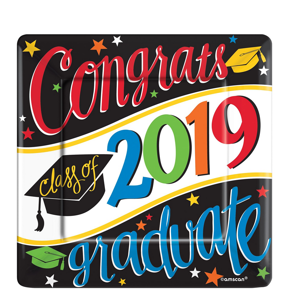 Deluxe Congrats Grad Colorful Graduation Party Kit for 36 Guests Image #6