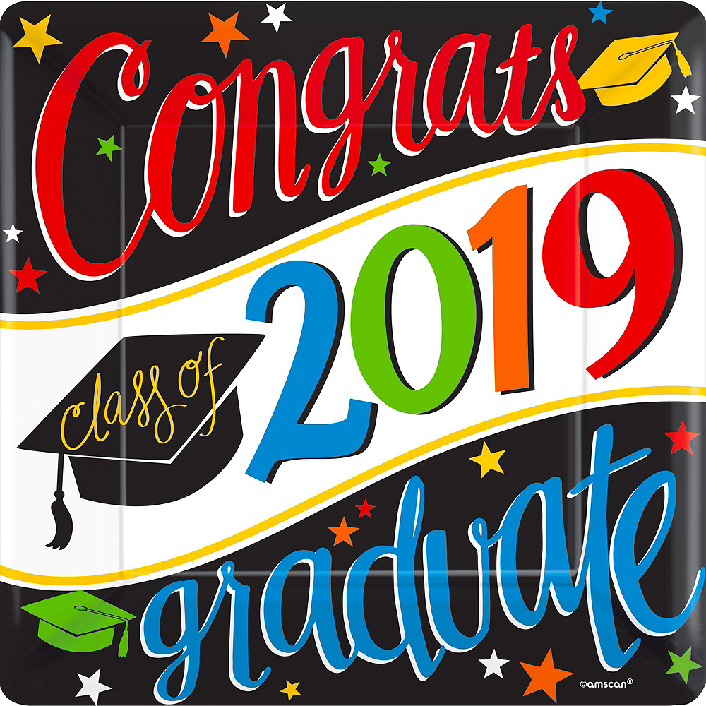 Deluxe Congrats Grad Colorful Graduation Party Kit for 36 Guests Image #7