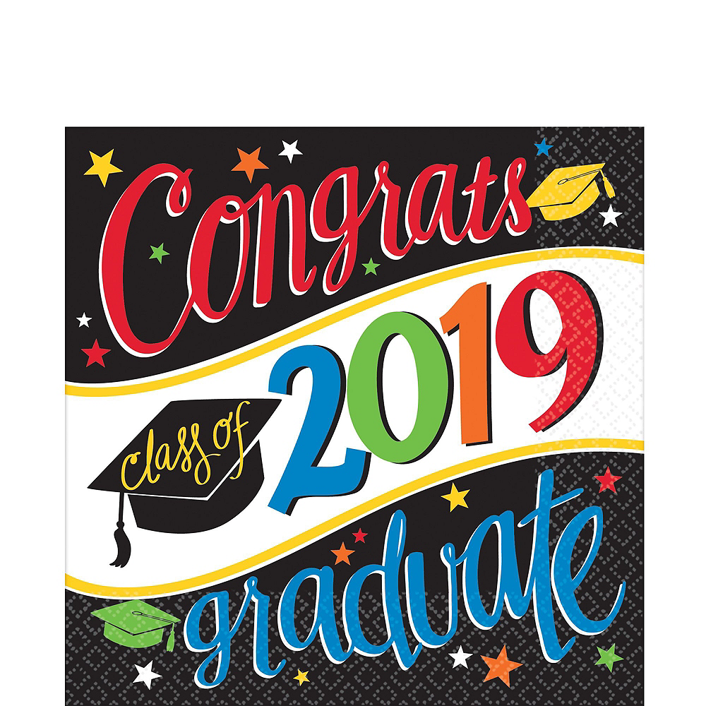 Deluxe Congrats Grad Colorful Graduation Party Kit for 36 Guests Image #9