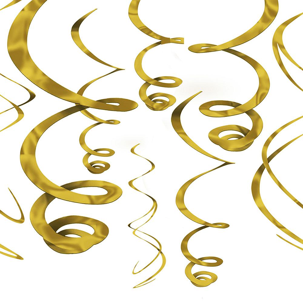 Metallic Gold The Adventure Begins Graduation Decoration Kit Image #5