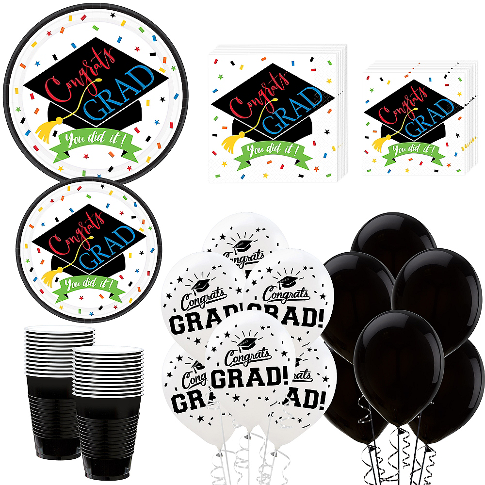 You Did It Grad Mega Tableware Kit for 50 Guests Image #1