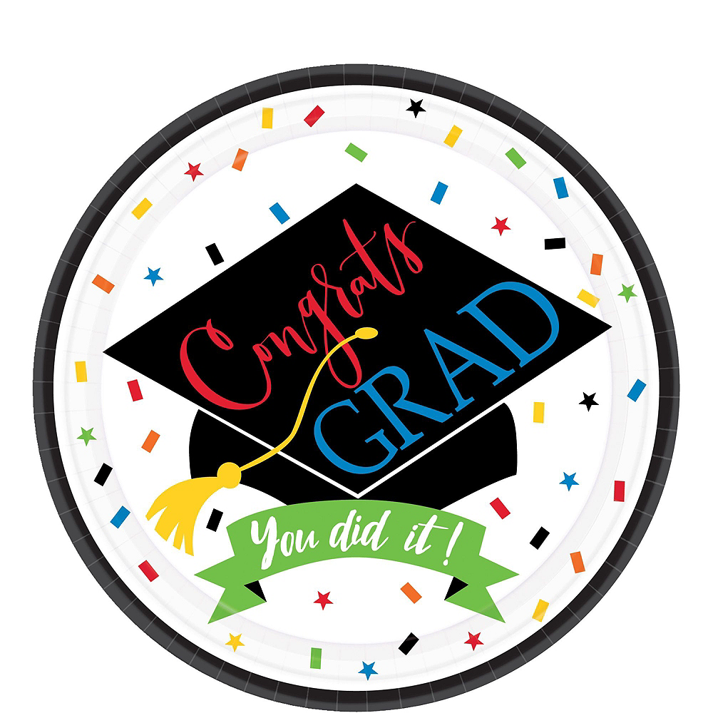 You Did It Grad Mega Tableware Kit for 50 Guests Image #2