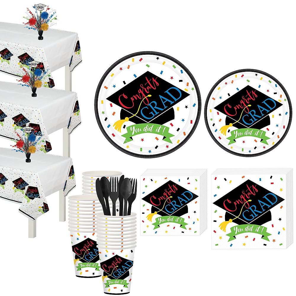 You Did It Grad Tableware Kit for 120 Guests Image #1