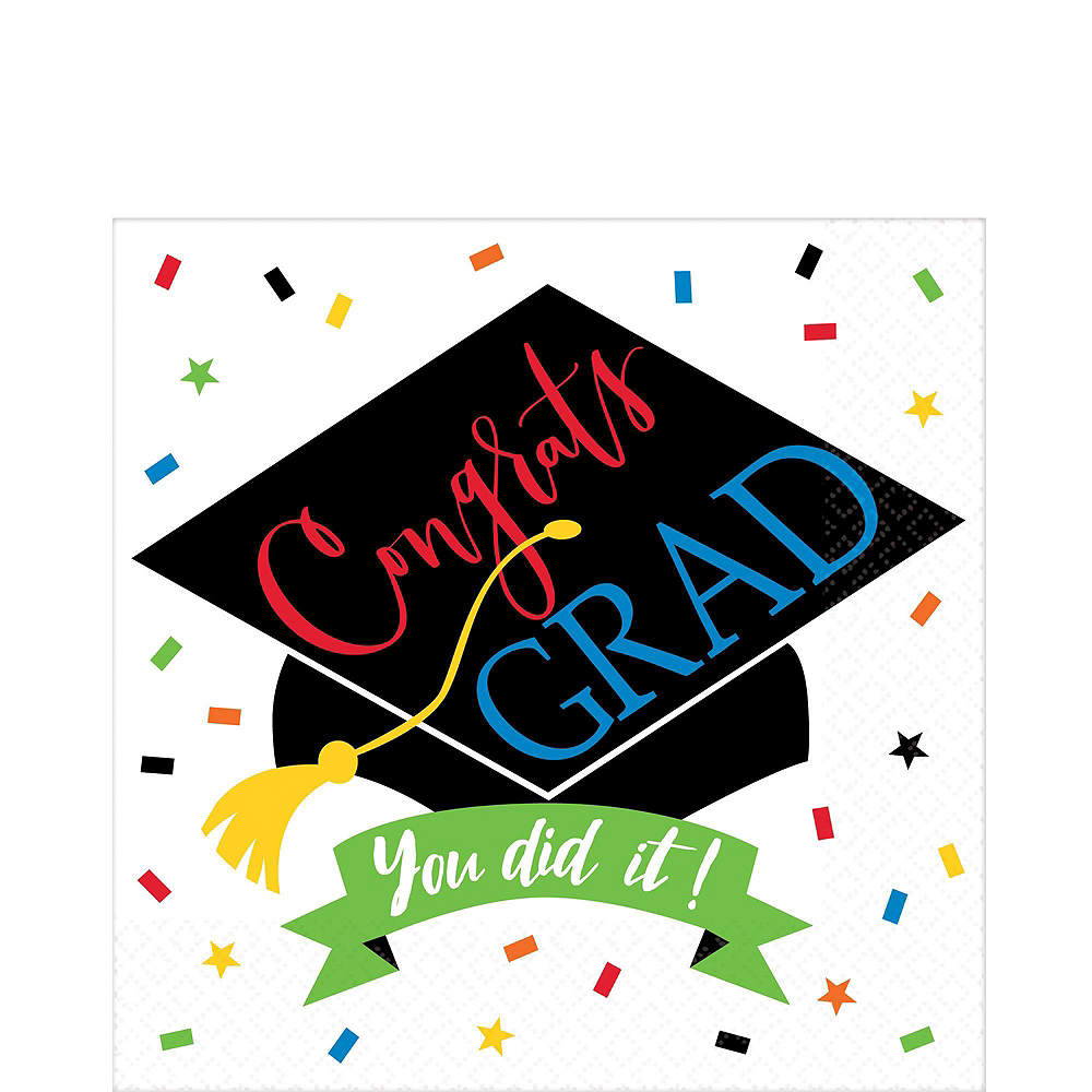 You Did It Grad Tableware Kit for 120 Guests Image #5