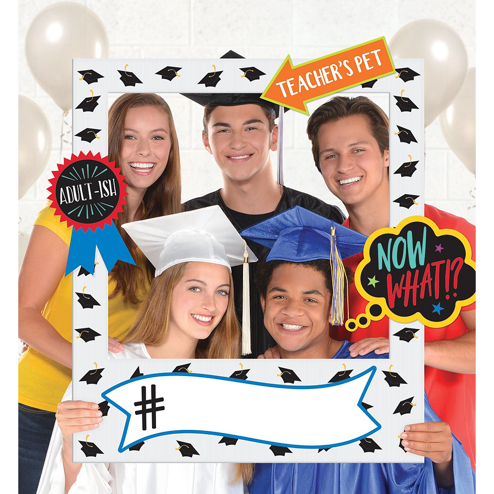 Graduation Photo Booth Backdrop Kit with Balloons Image #3