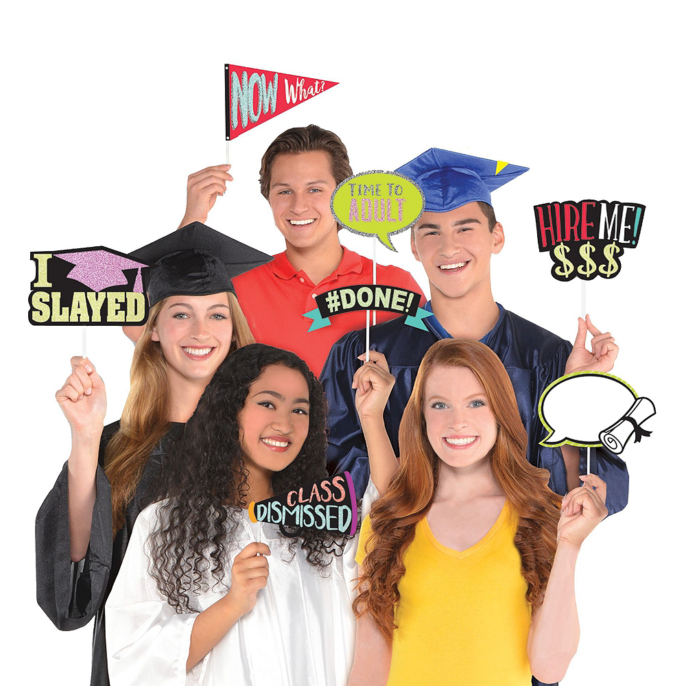Graduation Photo Booth Backdrop Kit with Balloons Image #4