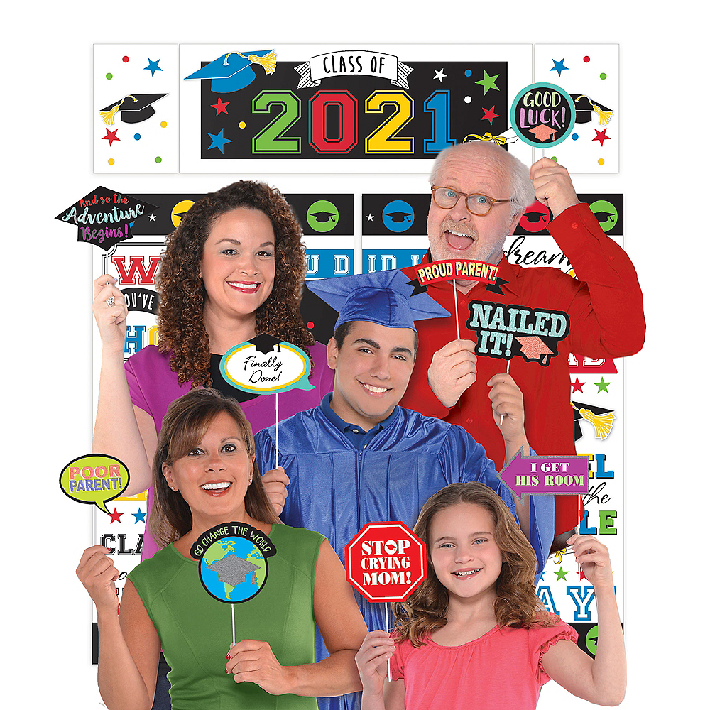 2019 Graduation Multi-Color Family Photo Booth Kit Image #1