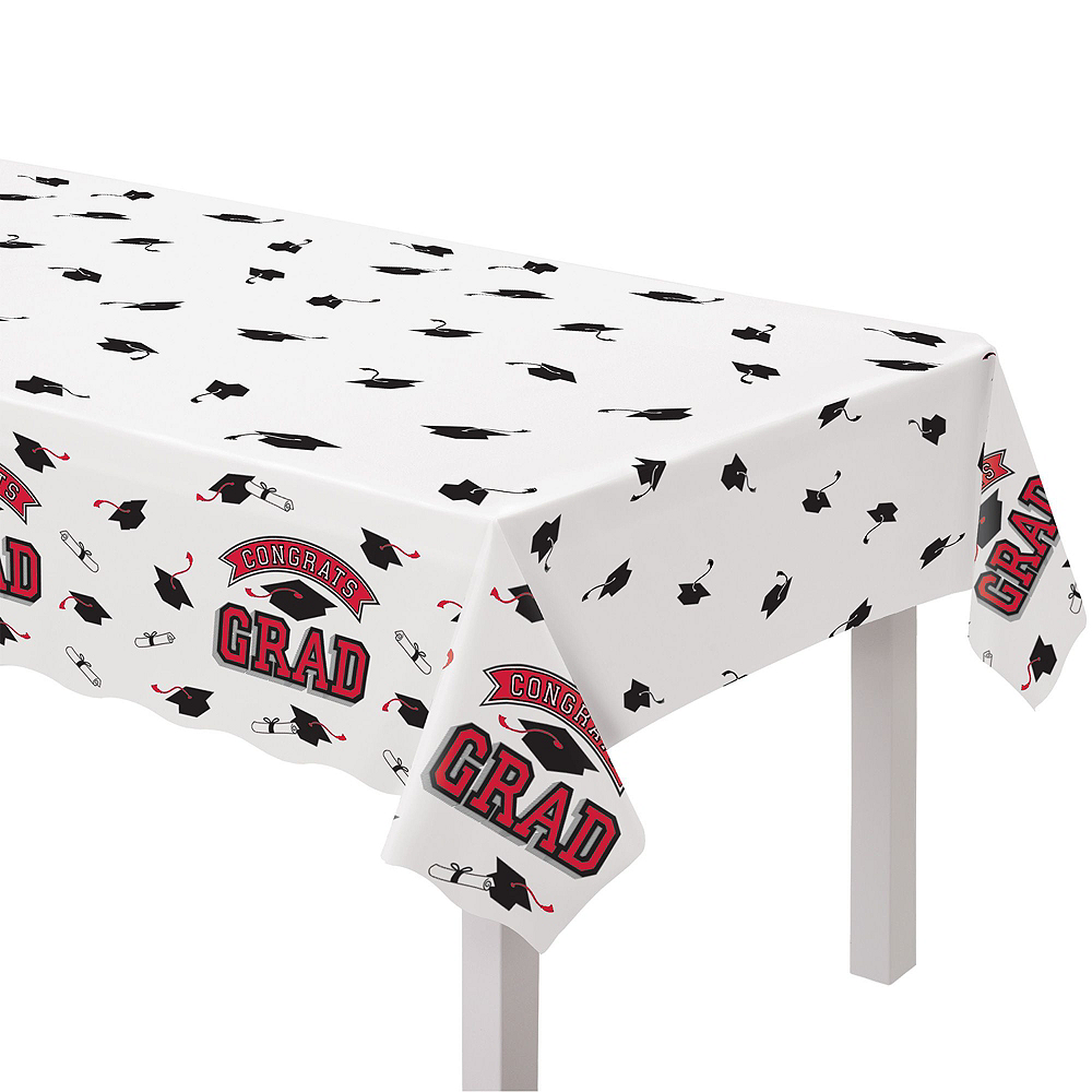 Congrats Grad Red Graduation Tableware Kit for 18 Guests Image #7