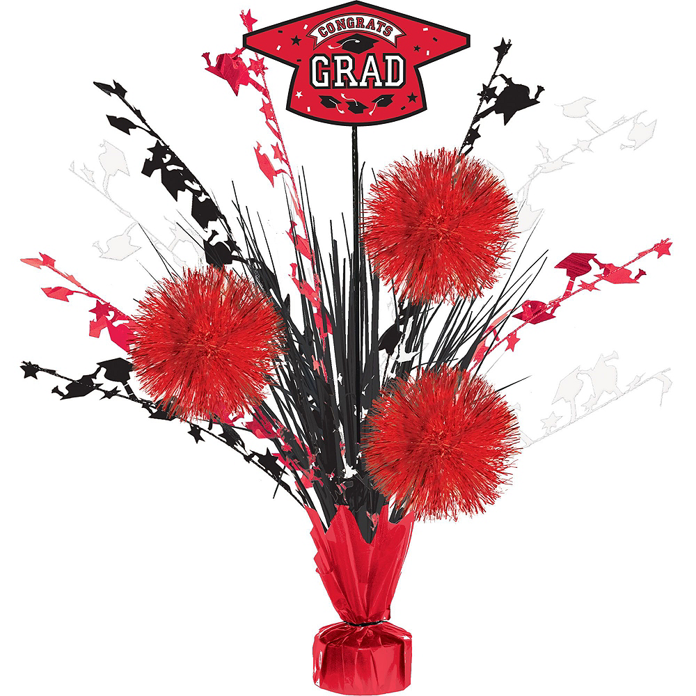 Super Congrats Grad Red Graduation Party Kit for 54 Guests Image #9