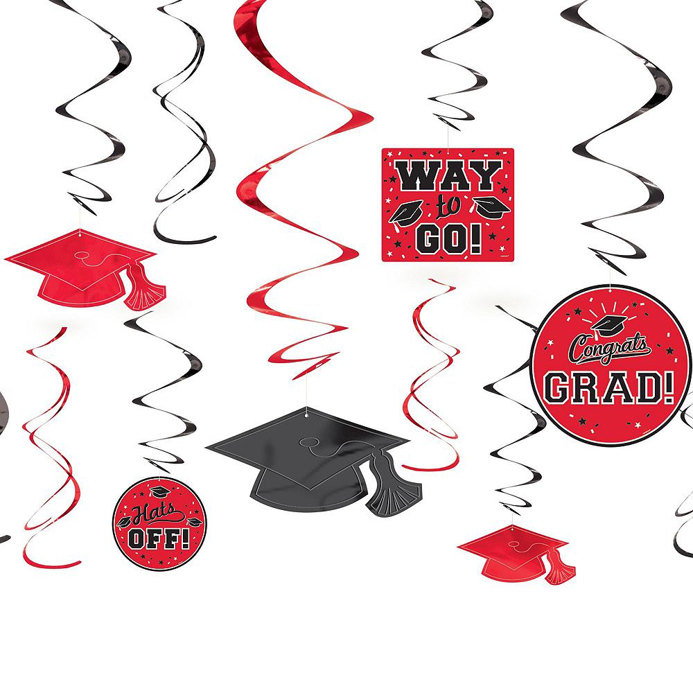 Congrats Grad Red Graduation Decorating Kit Image #4