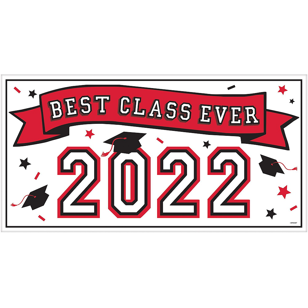 Congrats Grad Red Graduation Deluxe Decorating Kit with Balloons Image #2