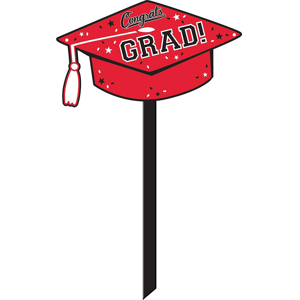 Congrats Grad Red Graduation Outdoor Decorations Kit Image #6