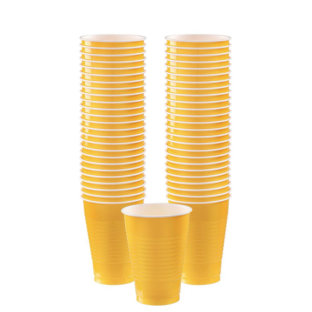 Congrats Grad Yellow Graduation Tableware Kit for 18 Guests Image #6