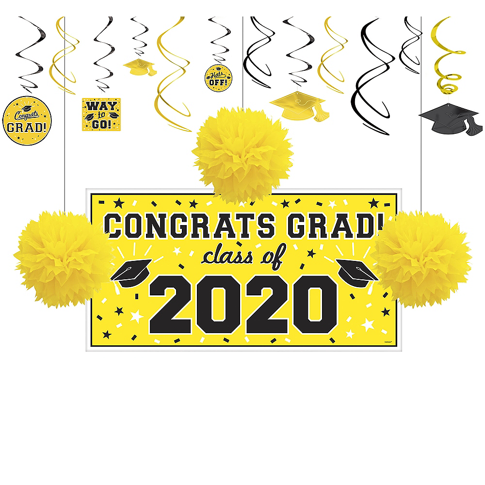 Congrats Grad Yellow Graduation Decorating Kit Image #1