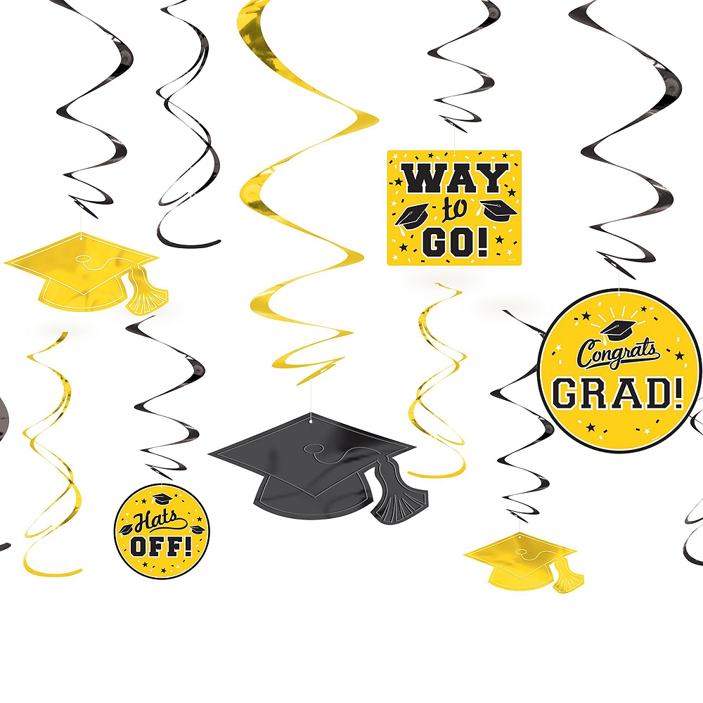Congrats Grad Yellow Graduation Decorating Kit Image #4