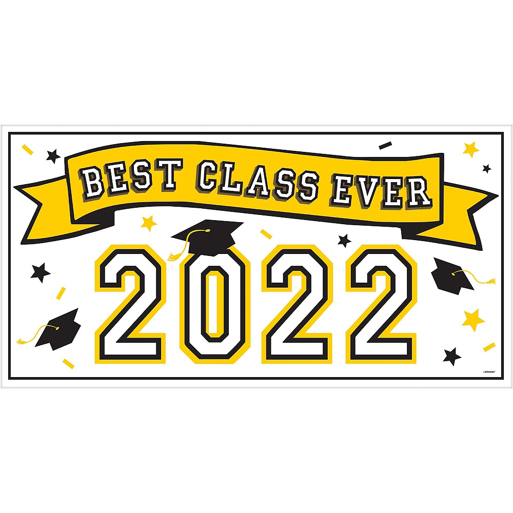 Congrats Grad Yellow Graduation Deluxe Decorating Kit with Balloons Image #2