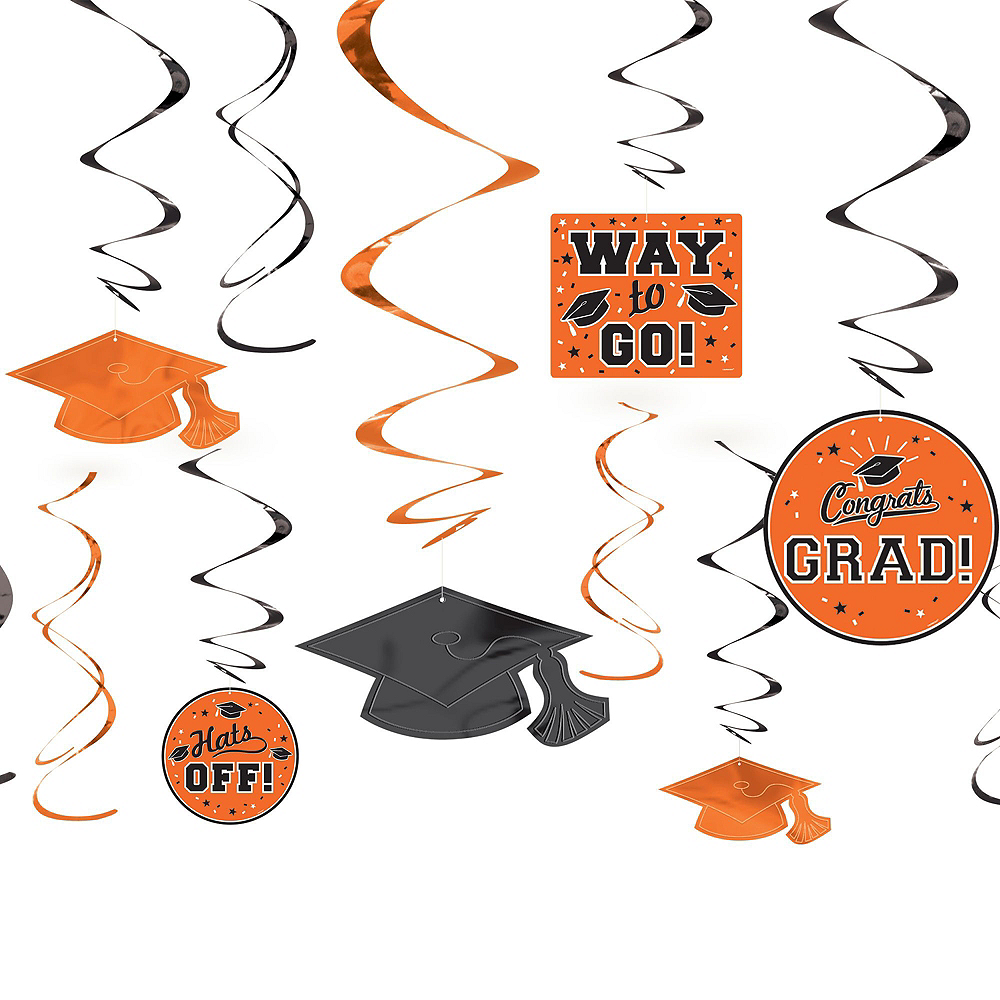 Congrats Grad Orange Graduation Decorating Kit Image #3