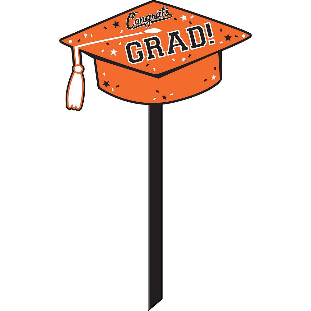 Congrats Grad Orange Graduation Outdoor Decorations Kit Image #3