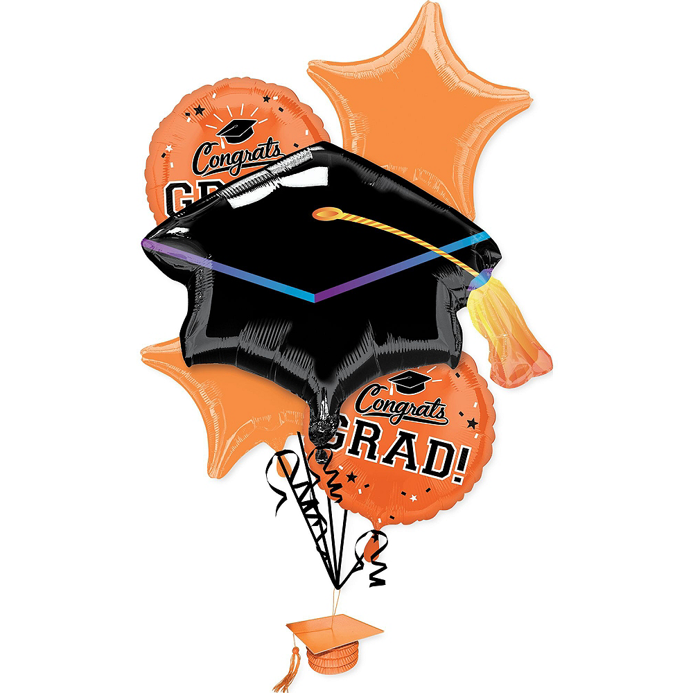 Congrats Grad Orange Graduation Outdoor Decorations Kit Image #4