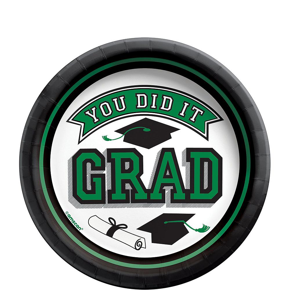 Congrats Grad Green Graduation Tableware Kit for 18 Guests Image #2