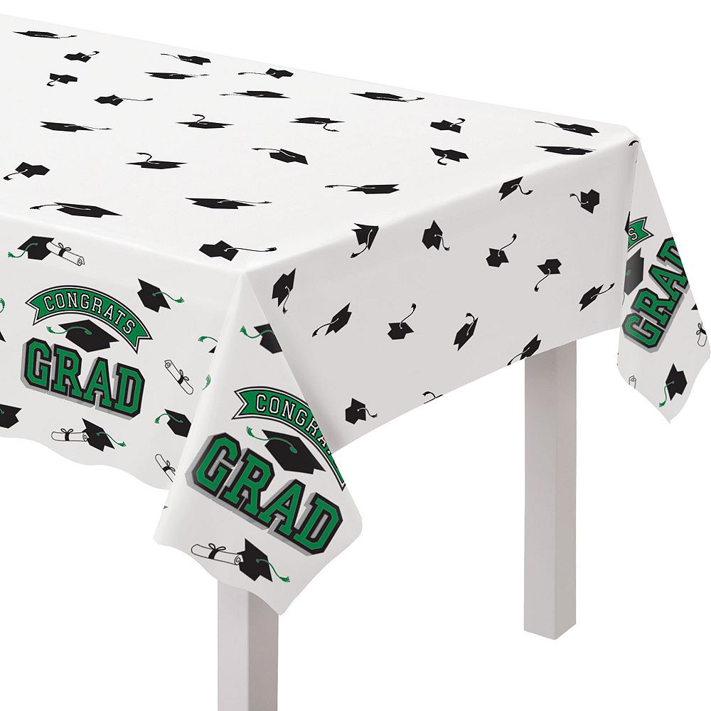 Congrats Grad Green Graduation Tableware Kit for 18 Guests Image #7