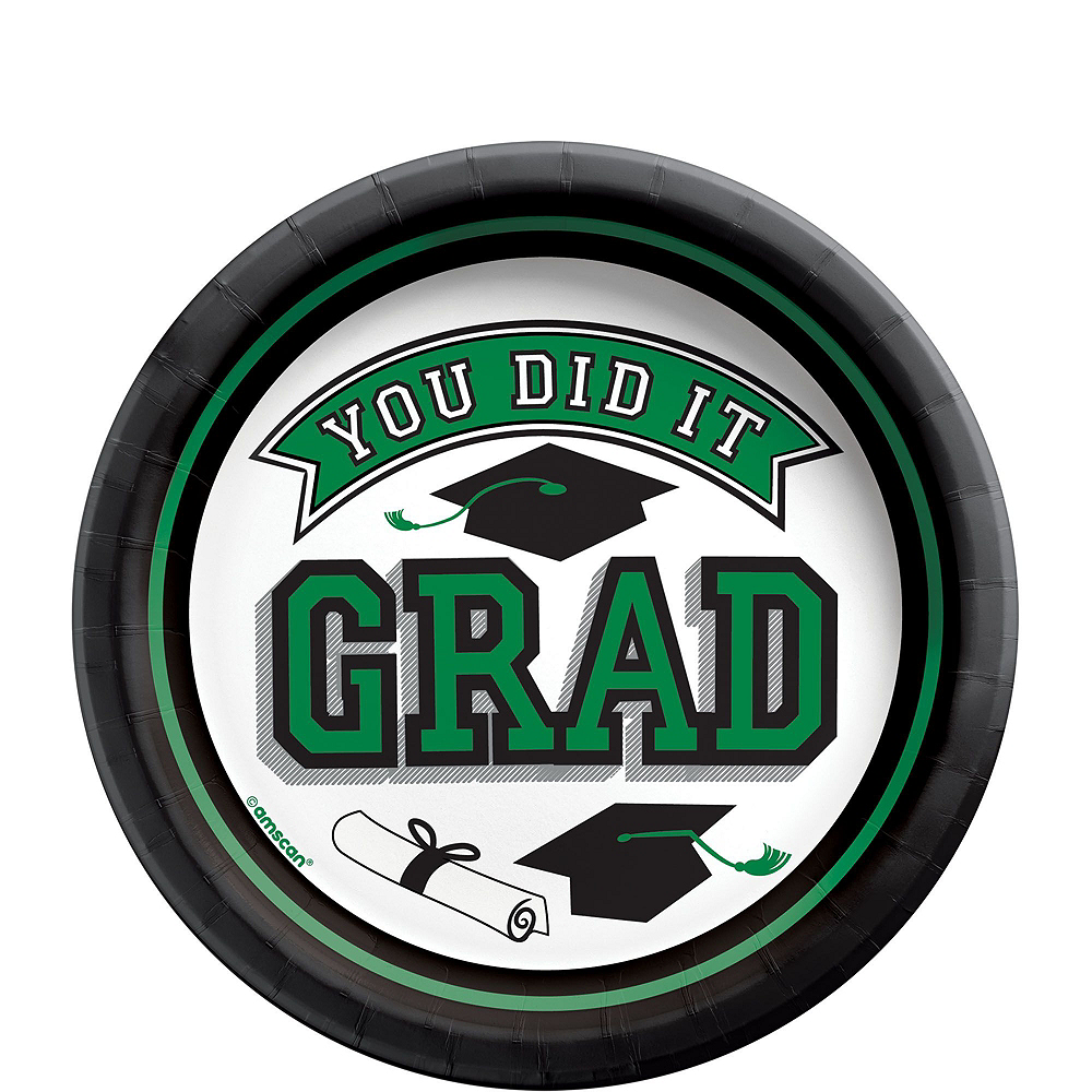 Congrats Grad Green Graduation Party Kit for 36 Guests Image #2