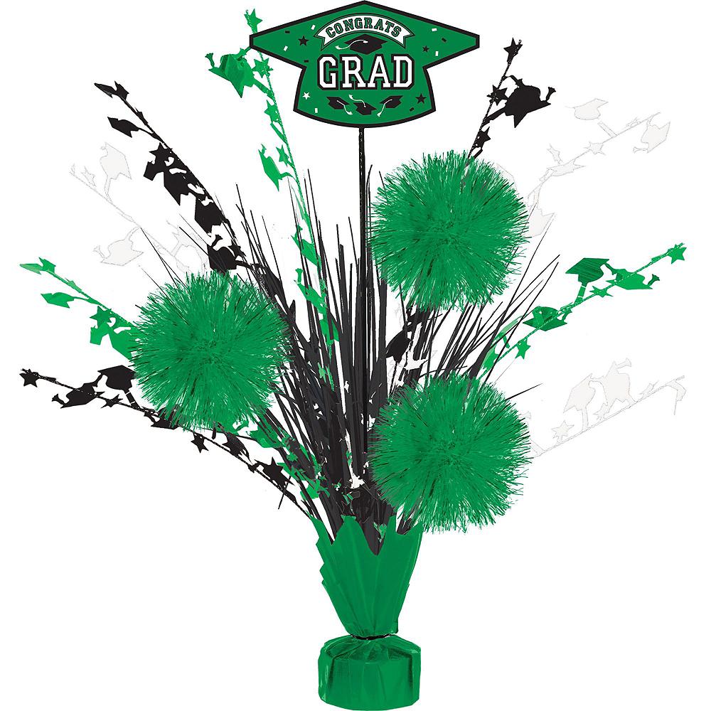Super Congrats Grad Green Graduation Party Kit for 54 Guests Image #2