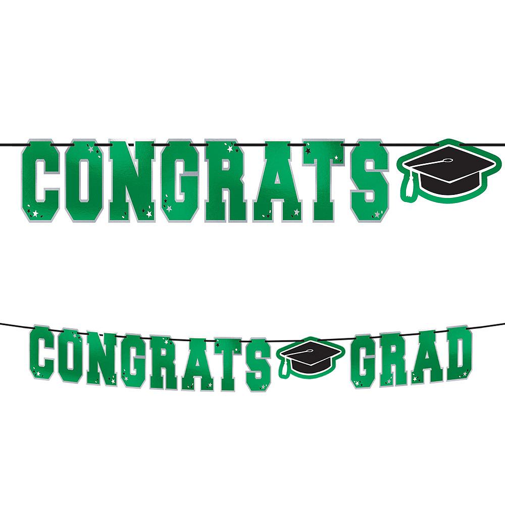 Super Congrats Grad Green Graduation Party Kit for 54 Guests Image #3