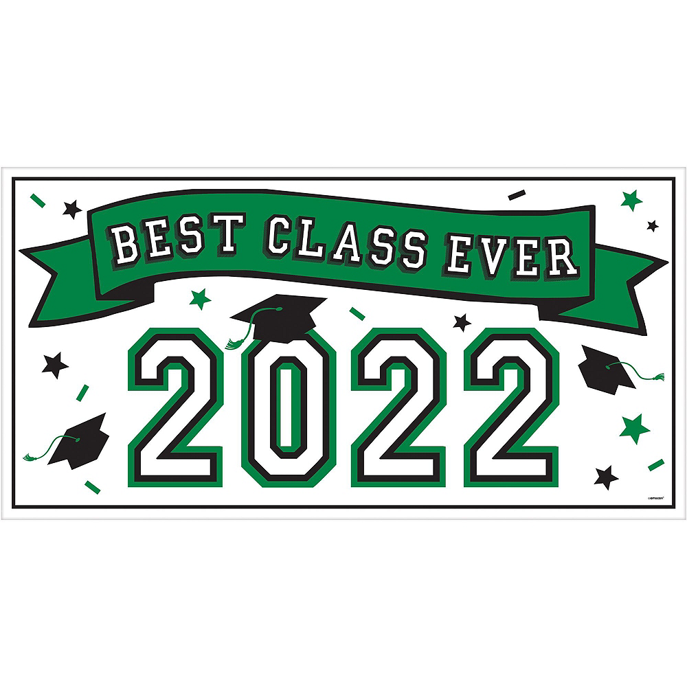 Congrats Grad Green Graduation Deluxe Decorating Kit with Balloons Image #2