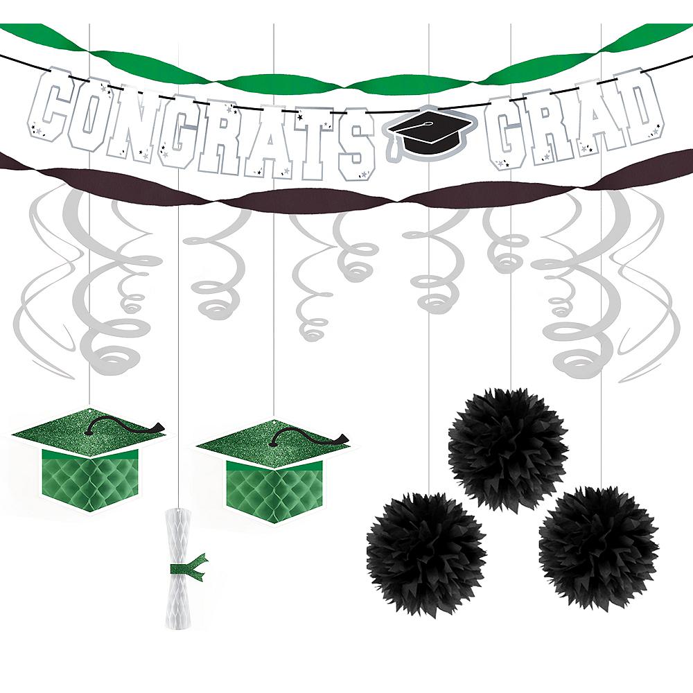 Congrats Grad Green Graduation Hanging Decorations Kit Image #1
