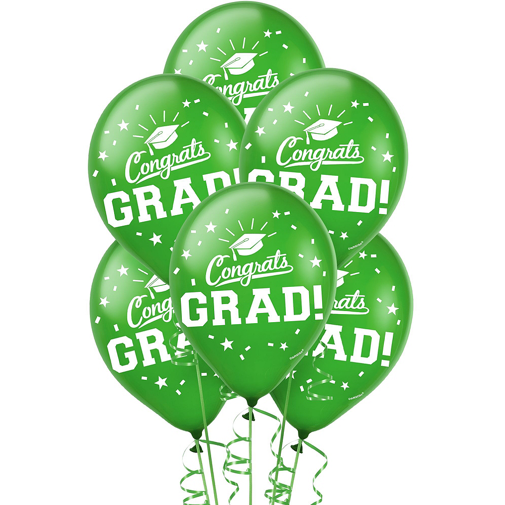 Congrats Grad Green Graduation Outdoor Decorations Kit Image #3