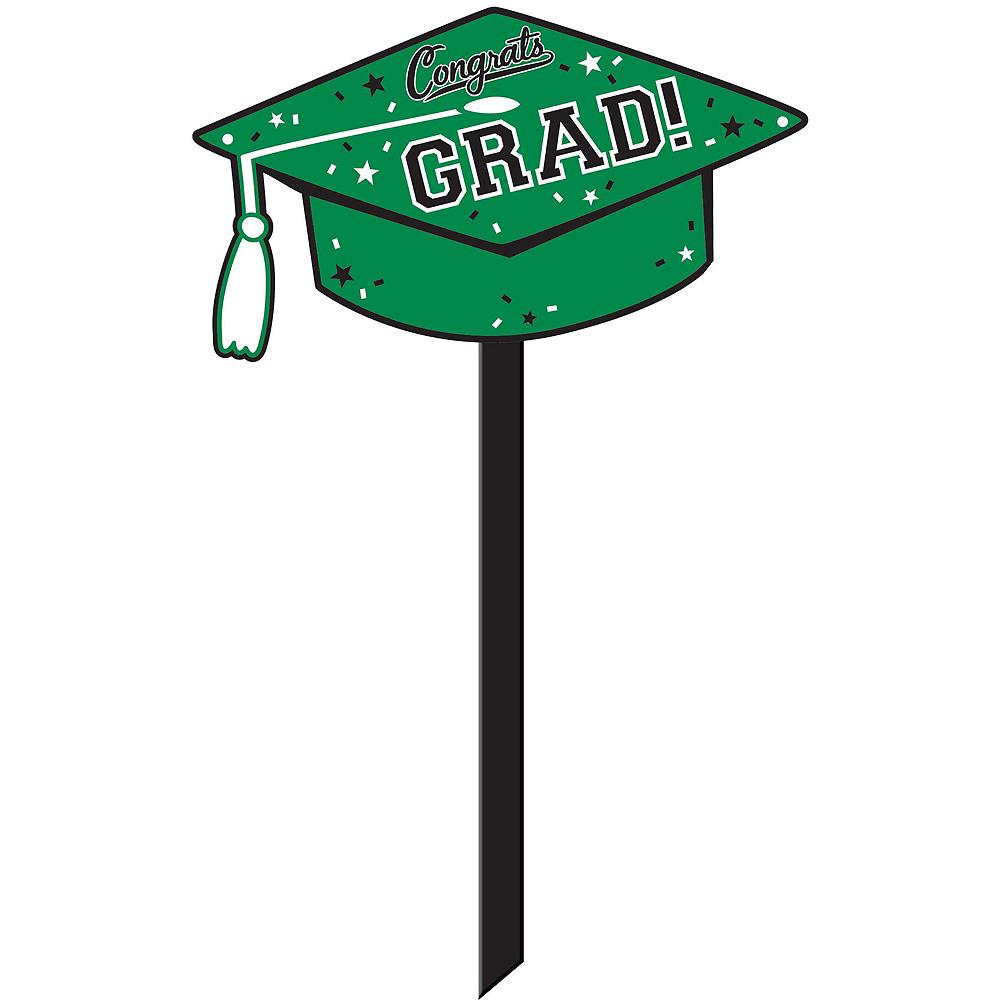 Congrats Grad Green Graduation Outdoor Decorations Kit Image #6