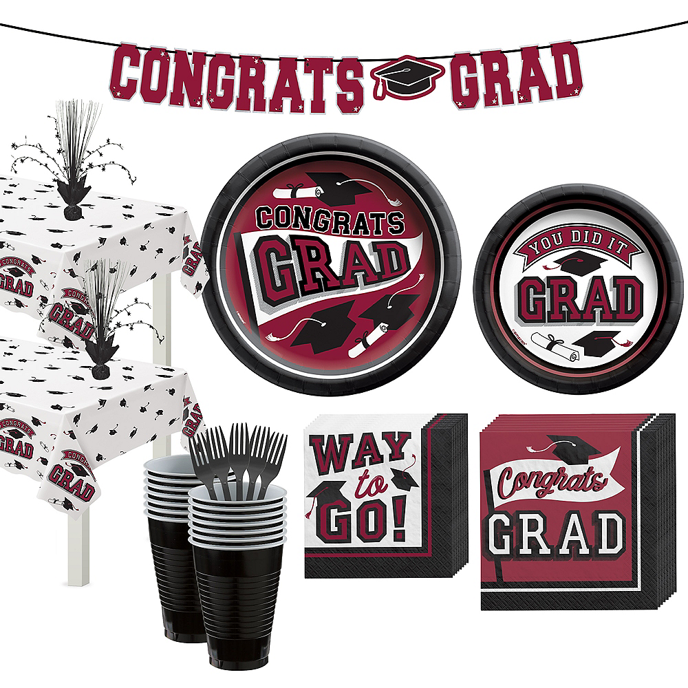 Congrats Grad Berry Graduation Party Kit for 36 Guests Image #1