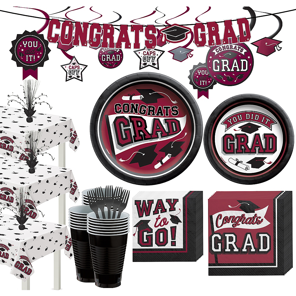Super Congrats Grad Berry Graduation Party Kit for 54 Guests Image #1