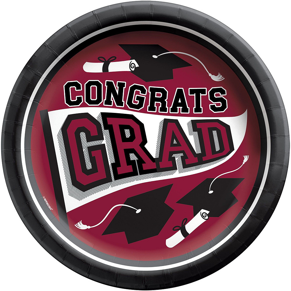 Super Congrats Grad Berry Graduation Party Kit for 54 Guests Image #5