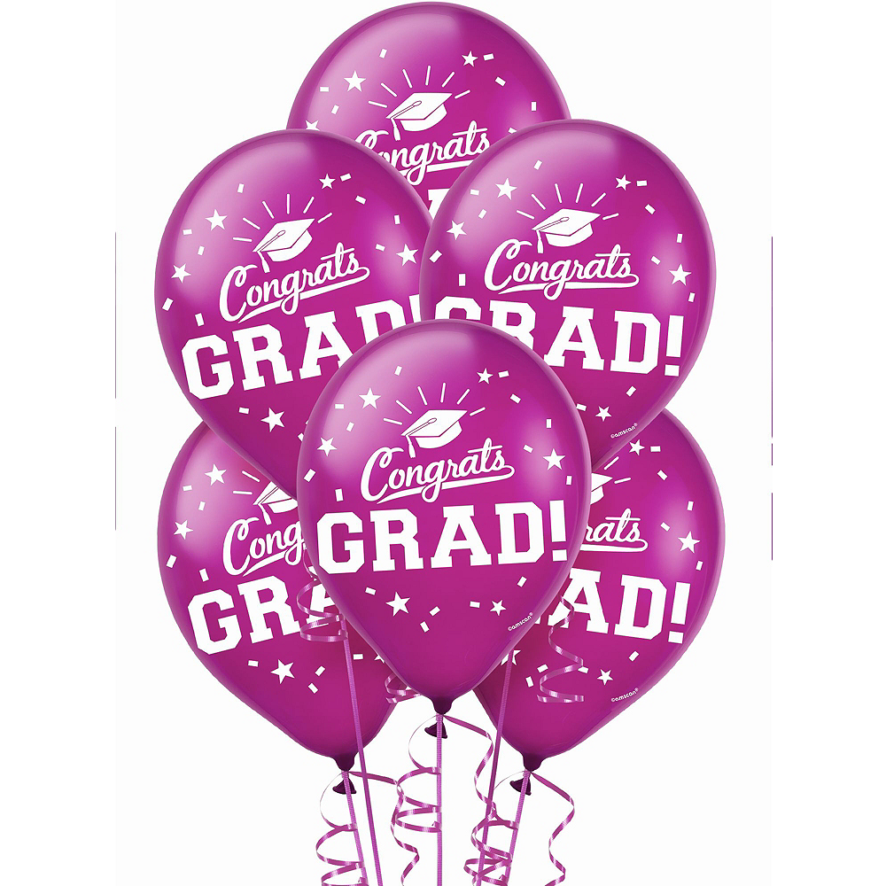 Congrats Grad Berry Graduation Decorating Kit with Balloons Image #3