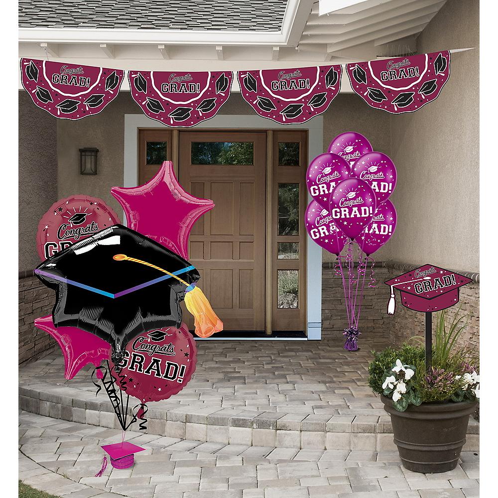 Congrats Grad Berry Graduation Outdoor Decorations Kit Image #1