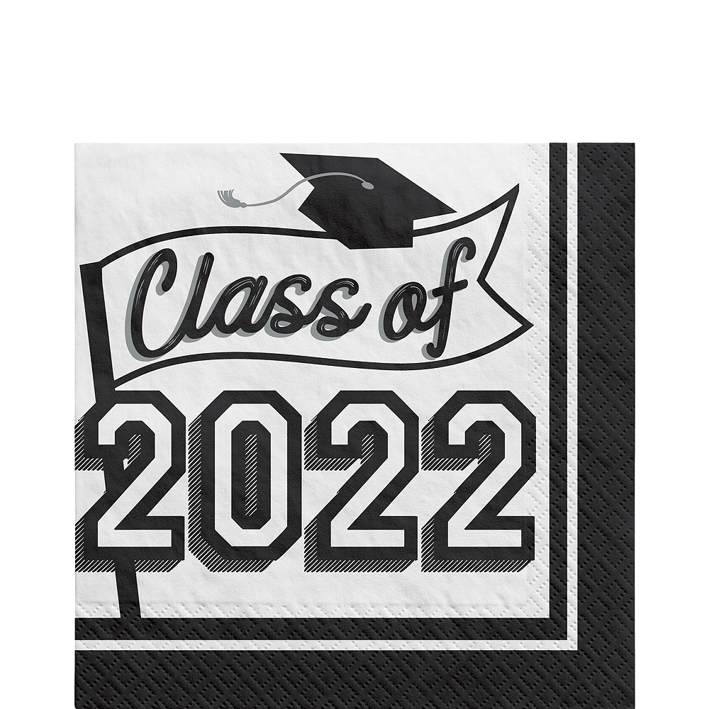 Nav Item for Congrats Grad White Graduation Party Kit for 36 Guests Image #5